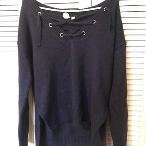 Gap lace-up sweater